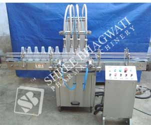 Automatic Eight Head Vertical Air Jet Cleaning Machine Model No. SBVAJC-60 GMP Model
