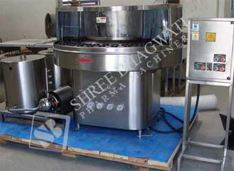 AAutomatic Rotary Bottle Washing Machine Model No. SBRW - 100 GMP Model